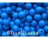 16 - Blue round bead - 10 mm. matte finish