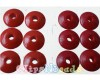 6c - Discbead Red Dark 14 x 6mm.